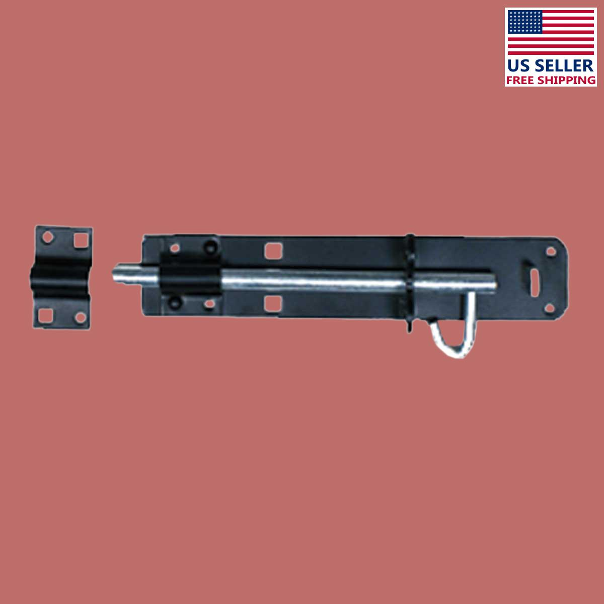 Slide Door Bolt Black Wrought Iron 6 L | Renovators Supply 2