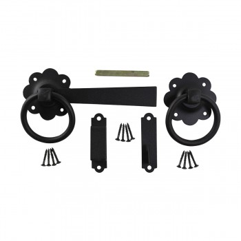 Floral Gate Latch Heavy Duty Wrought Iron 7 W