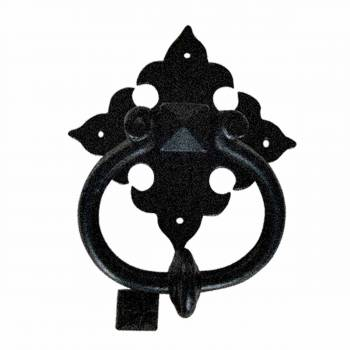 Door Knocker Black Cast Iron Brand New 6 12 H x 5 12 W