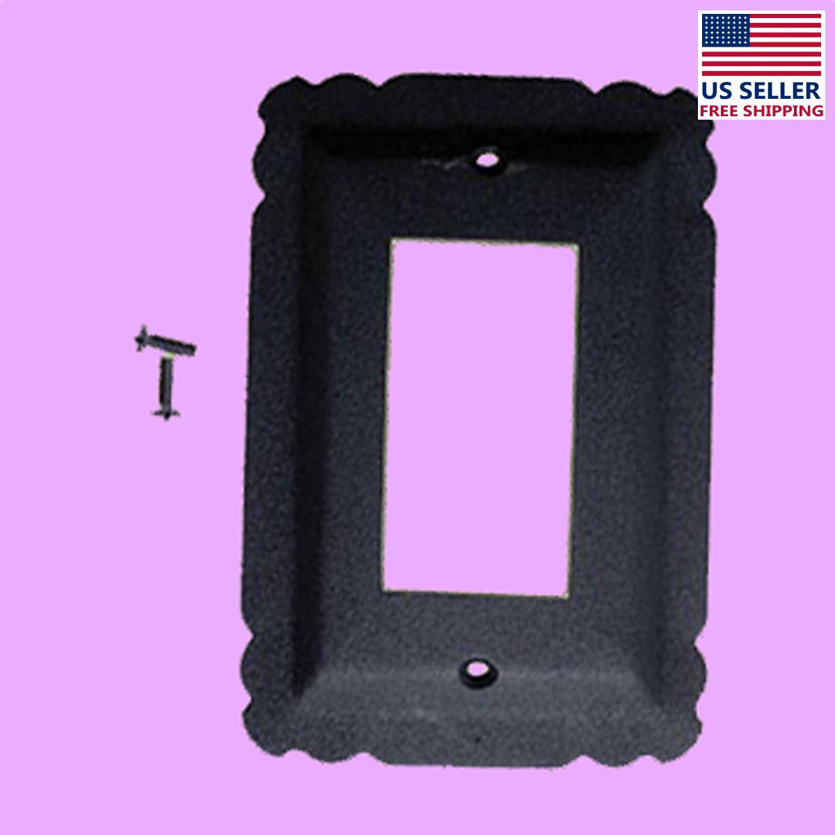 Switchplate Black Steel SIngle GFI RSF| Renovators Supply 2