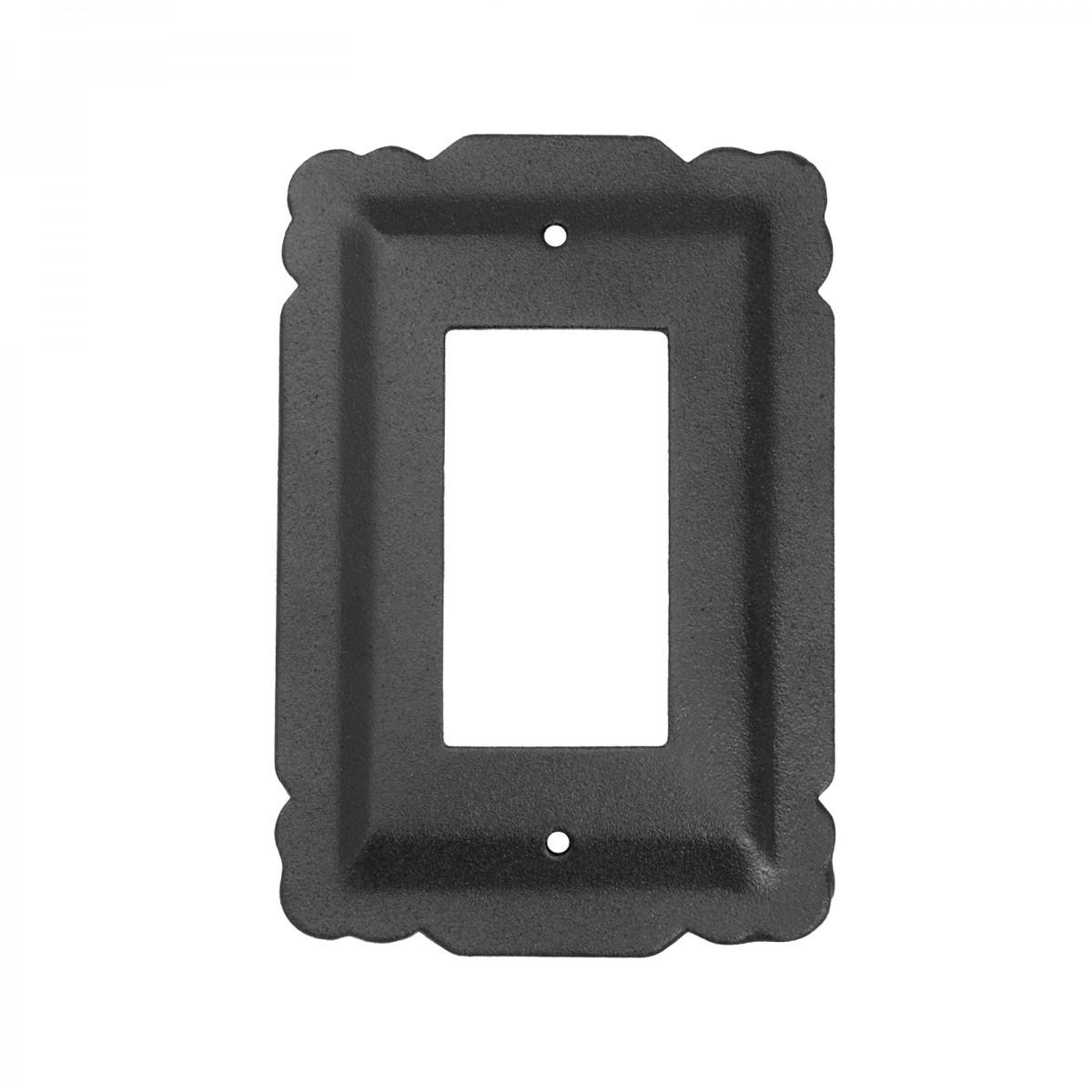 Switchplate Black Steel SIngle GFI RSF| Renovators Supply