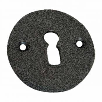 Escutcheon Black Wrought Iron Keyhole Cover