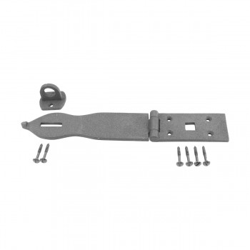 Hasp Black Wrought Iron 1 34 H x 8 12 W