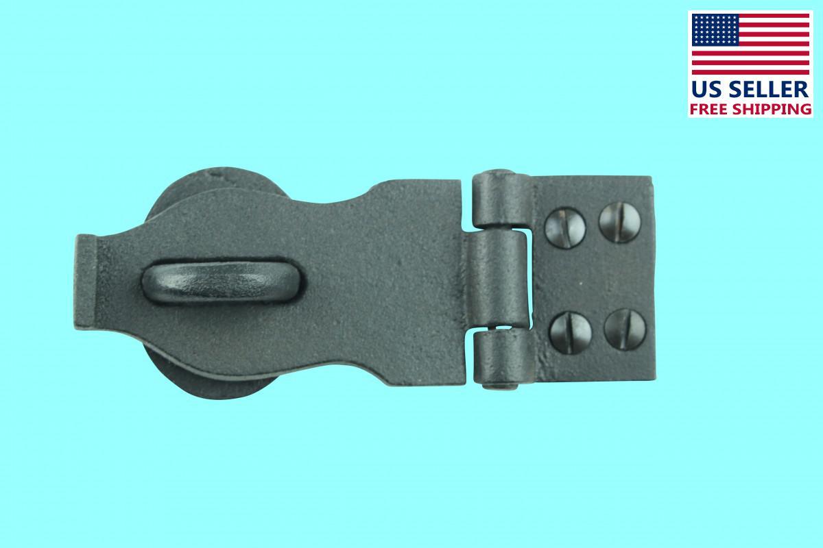 Hasp Black Wrought Iron 1 3/8 H x 4 W | Renovators Supply 2