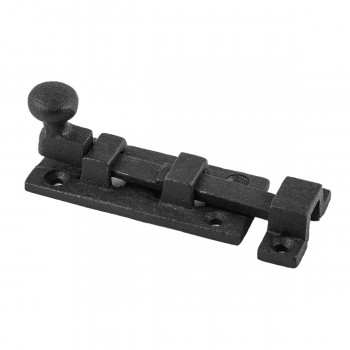 Black Wrought Iron Cabinet or Door Fancy Slide Bolt 3 W