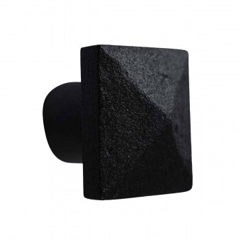 Cabinet Knob Square Black Iron 1 14