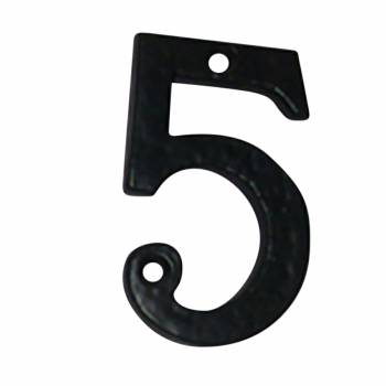 Number 5 House Number Black Wrought Iron 4H