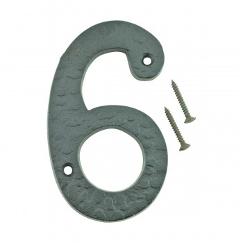 Number 6 or 9 House Number Black Wrought Iron 4H