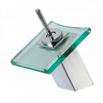 8 11/16 inch Waterfall Faucet Square Clear Plate