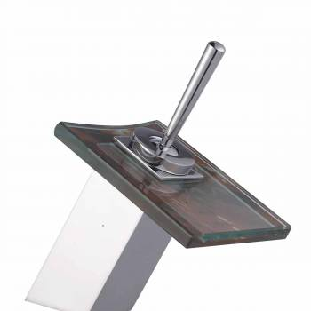 Square Waterfall Faucet Lava Rock