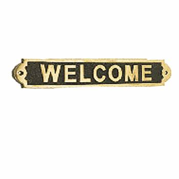 Solid Brass Sign WELCOME Polished Plaques