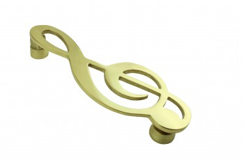 Solid Brass Door Knocker Music Note 6H