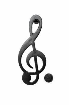 Door Knocker Black Cast Iron Music Sign 6 H x 2 12 W