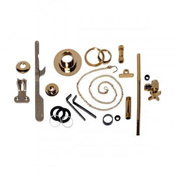 High Tank Toilet Parts Brass PVD