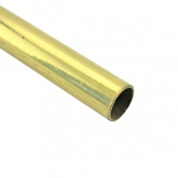 Smooth Bright Brass Stair Carpet Rod Tubing 12OD 36