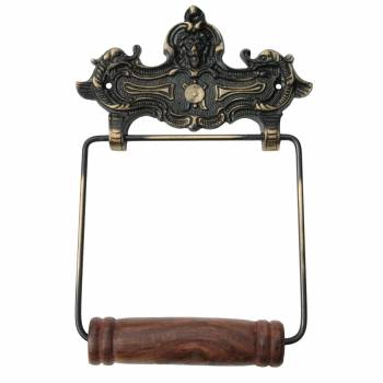 Toilet Paper Holder Antique Brass Crest Tissue Holder