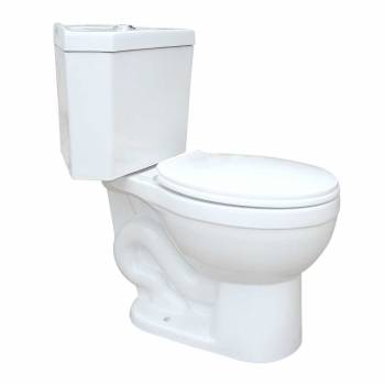 Corner Toilet Round Dual Flush Seat Included White