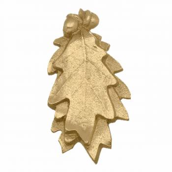 Solid Brass Door Knocker Oak Leaf 6H x 3W
