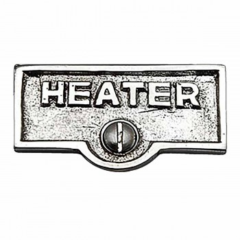 Switch Plate Tags HEATER Name Signs Labels Chrome Brass