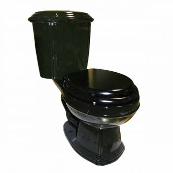 Sheffield Deluxe Two-piece Dual Flush Toilet Black Elongated