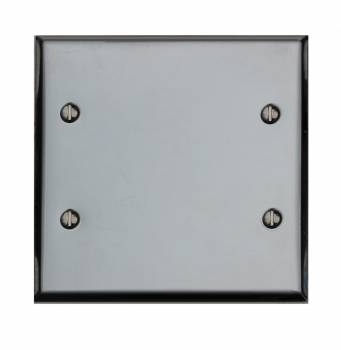 Switchplate Chrome Double Blank