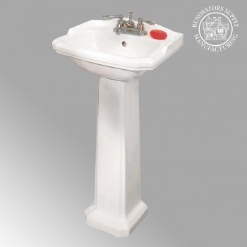 Cloakroom Pedestal Sink Space Saver Grade A Vitreous China