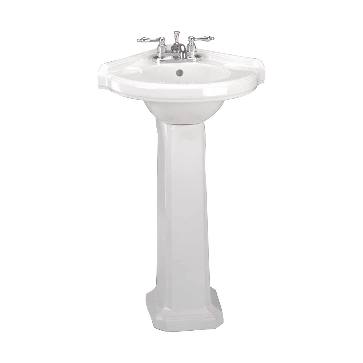 Small Corner Pedestal Sink : Corner Pedestal Sink White Pedestal Sink Renovators Supply