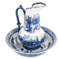 Chamber Pot and Pitcher Delft Blue Set Delft Pitcher and Basin Ceramic