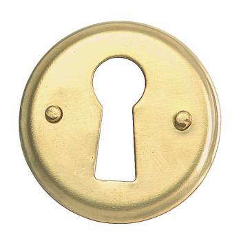 Escutcheon Solid Brass Keyhole Cover 1D