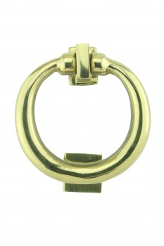 Ring Style Solid Brass Door Knocker Lifetime Finish