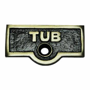 Switch Plate Tags TUB Name Signs Labels Antique Brass
