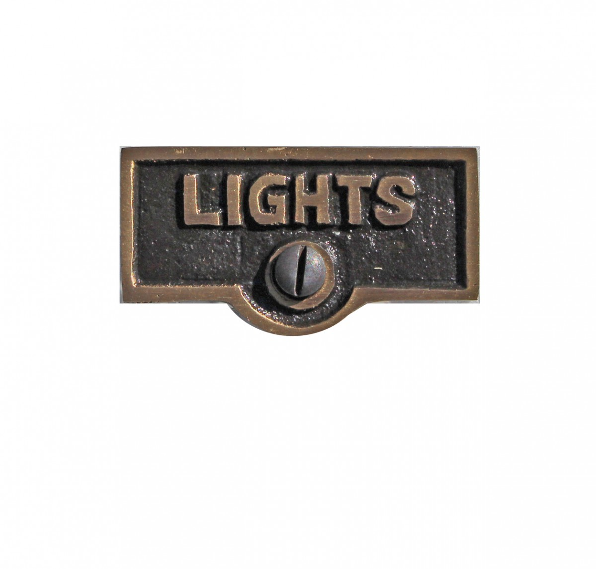 Switch Plate Tags Lights Name Signs Labels Cast Brass Renovator S Supply Ebay