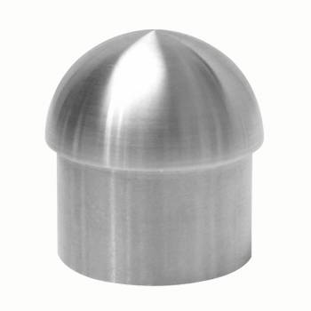 Handicap Rail Or Boat Bar Dome End 15 Cap Stainless Steel