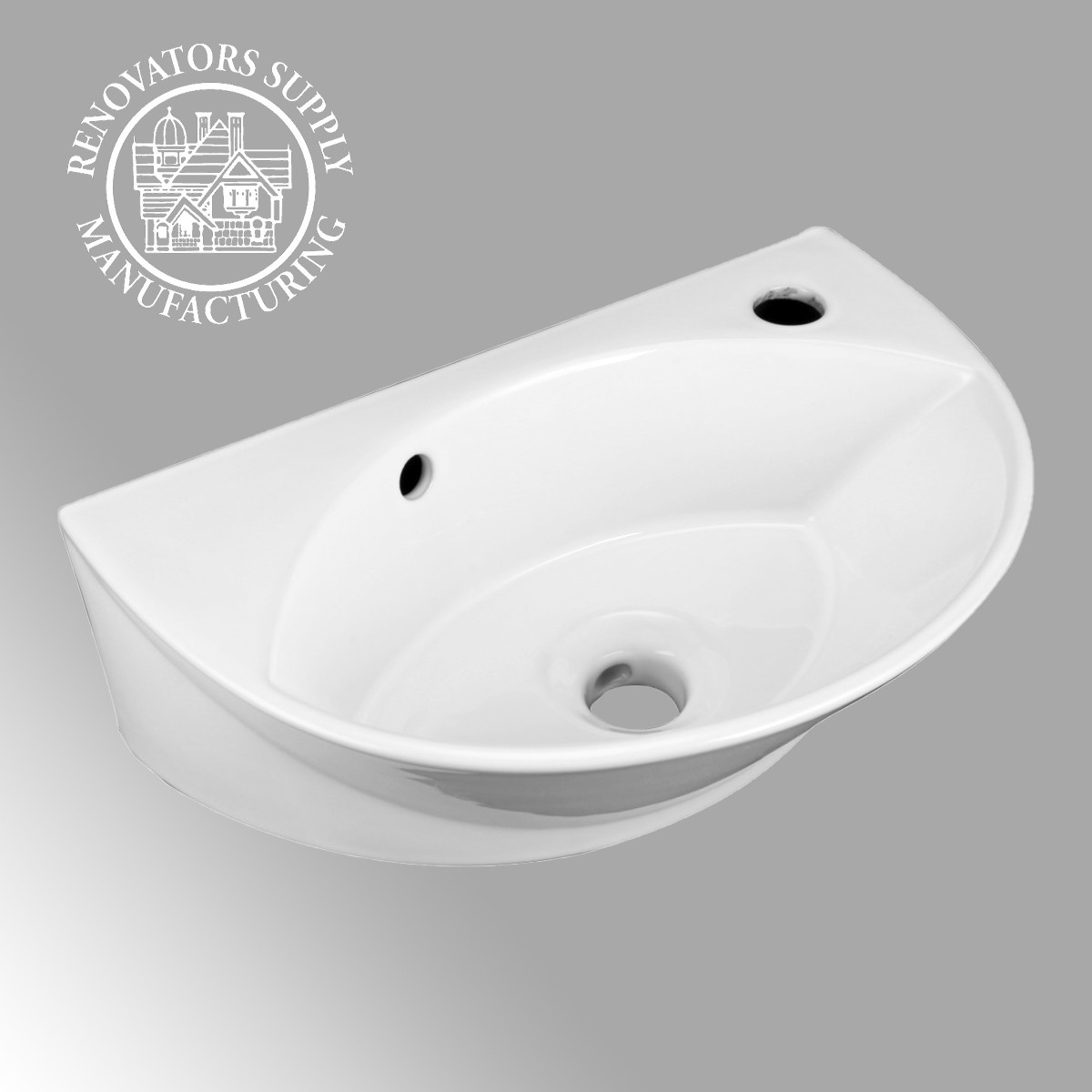 Small Wall Mount Sink For Bathroom Porcelain White With