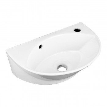 Wall Mount Porcelain Sink Single Hole Faucet NOT INCLUDED