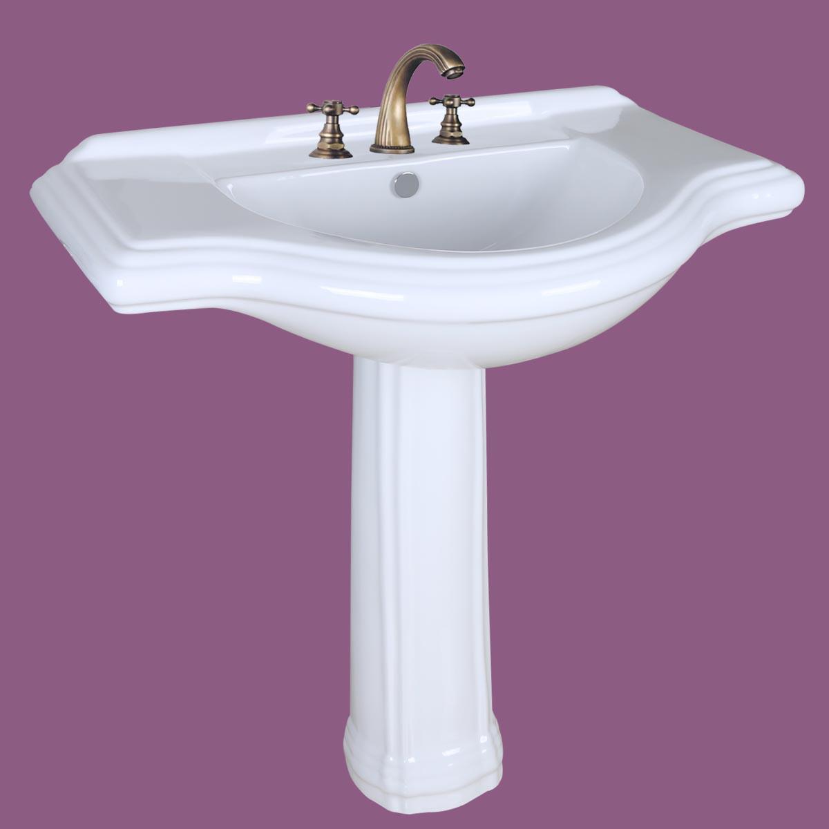 large pedestal sink bathroom console 8 widespread 34 w