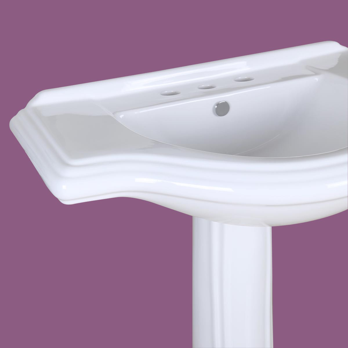 Large Bathroom Porcelain Pedestal Sink