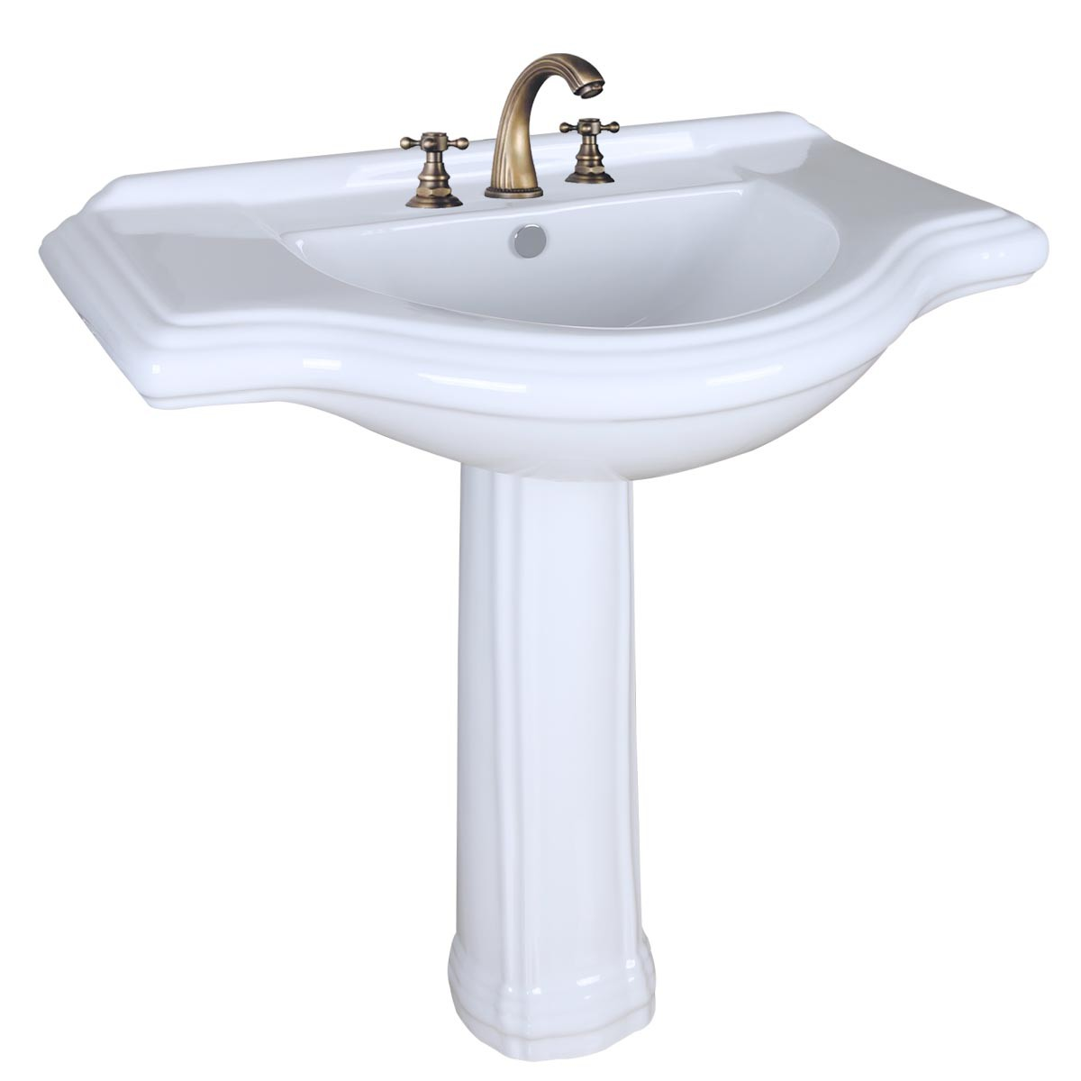 Large Pedestal Sink : Home Bathroom Pedestal Sinks Large Deluxe Pedestal Sinks