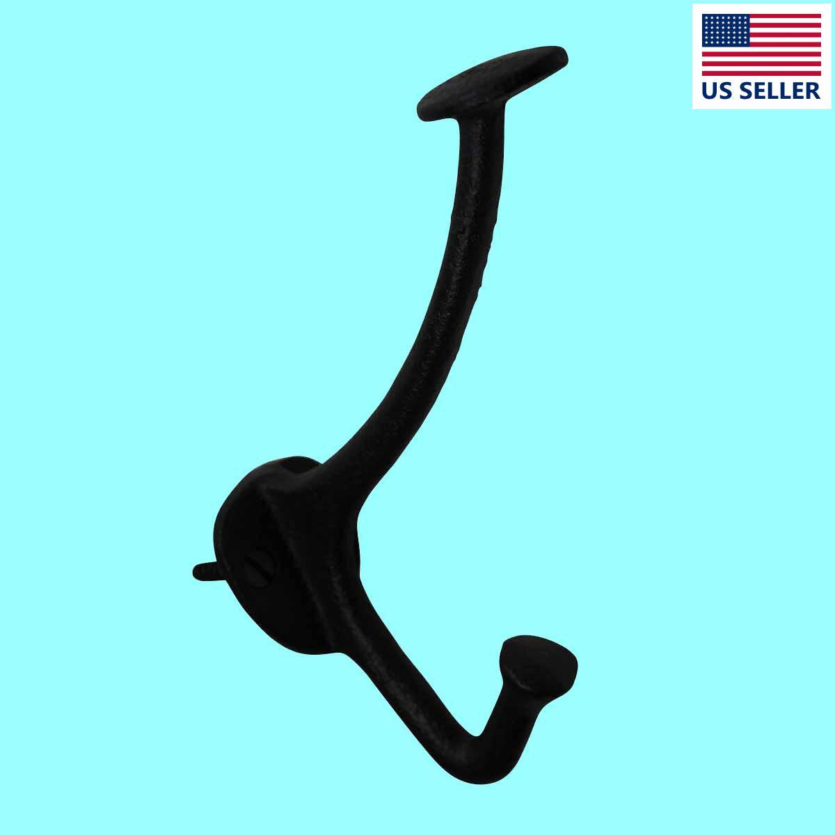 Hat Hook Black Cast Iron 5 H   Renovators Supply 2