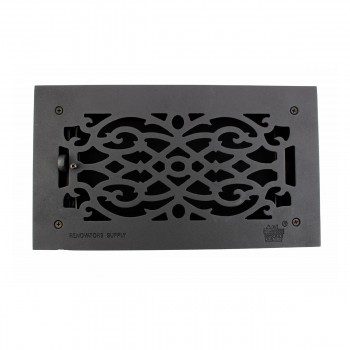 Floor Heat Register Louver Vent Victorian Cast 6 x 12 Duct