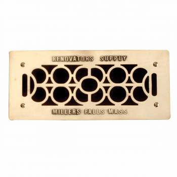 Grille w/ Logo Cast Brass Polished & Lacquered  4 3/4 x 11 Overall