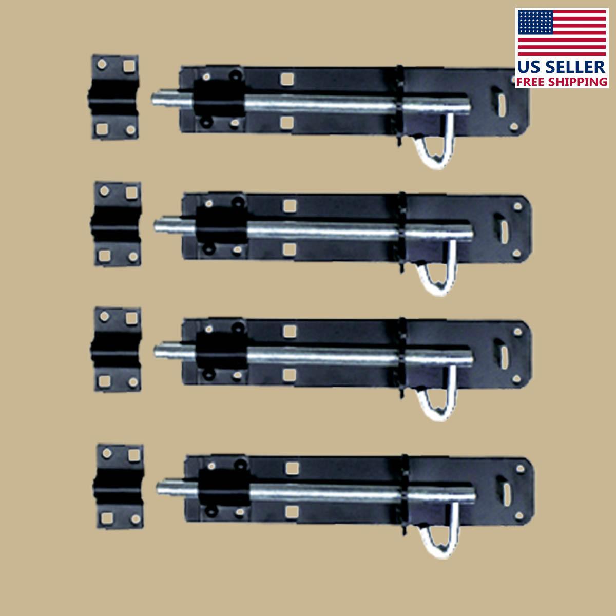 4 Black Wrought Iron Slide Door Brenton Bolt 8 | Renovators Supply 2