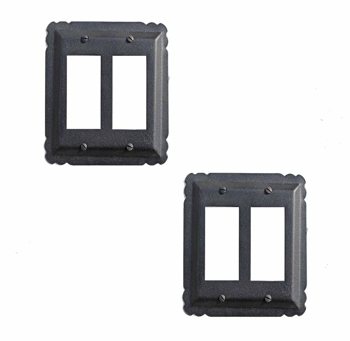 2 Switchplate Black Iron Double GFI | Renovators Supply