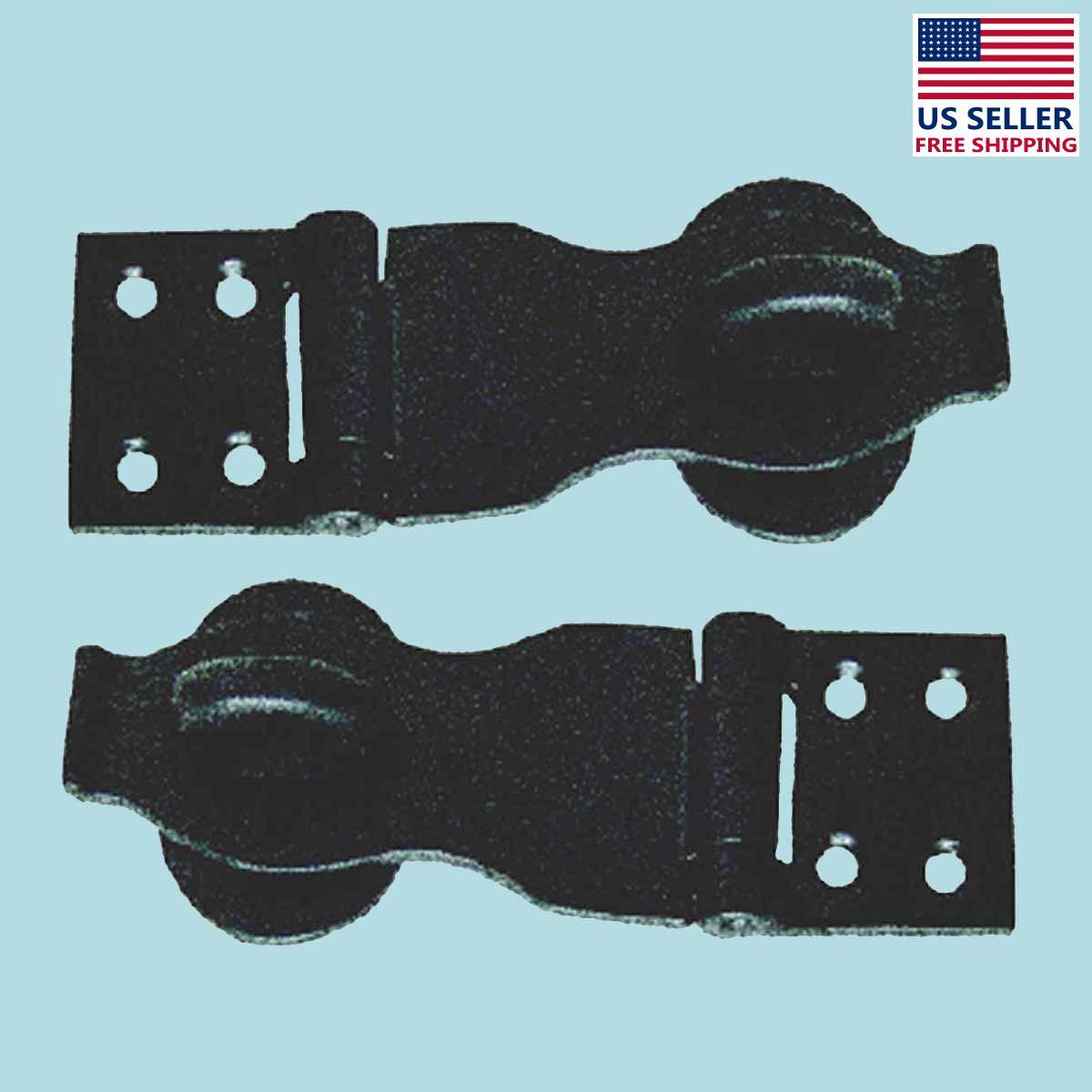 2 Hasps Black Wrought Iron Rustproof Set of 2   Renovators Supply 2