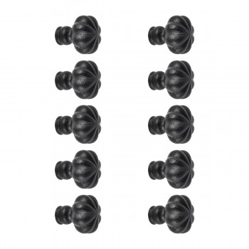 10 Wrought Iron Mission Cabinet Knobs Black 1 Dia