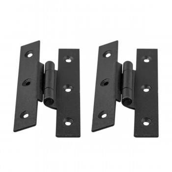 2 Forged Iron Cabinet Hinge H Style  312 H w Offset