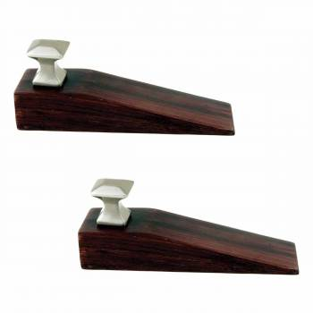 2 Door Wedge Solid Mango Wood Satin Brass Knob Cherry