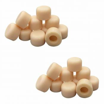 20 Door Stop Bumper Tips Almond Silicone Rubber Set of 20