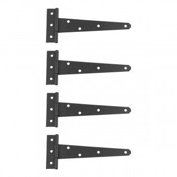 4 T Strap Door Hinge Black RSF Wrought Iron 7