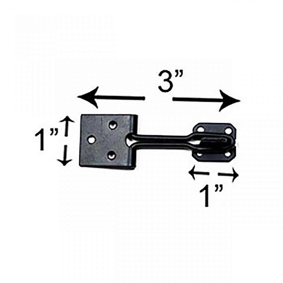 10 Door Hasp Lock Black Wrought Iron Wire 3 | Renovators Supply 3
